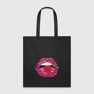 Glossy Lips with Cherry / Glänzende Lippen - Tote Bag