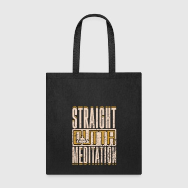 Straight Outta Meditation Funny Yoga Gift - Tote Bag