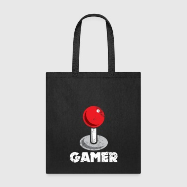 Lanparty Red Joystick Retro Vintage Gamer Gift - Tote Bag