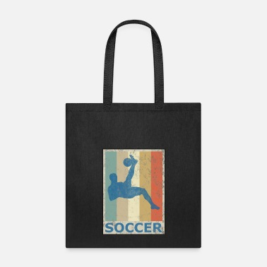 Soccer Retro Vintage Style Soccer Player Sports Game - Tote Bag