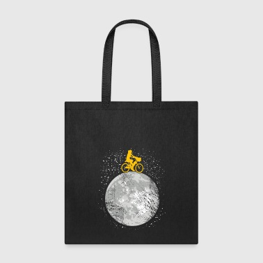 ride your bicycle on the moon present idea - Tote Bag