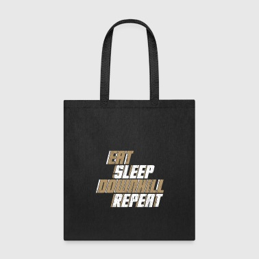 Eat Sleep Downhill Repeat bicycle gift quote - Tote Bag