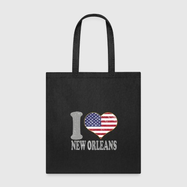 I Heart New Orleans City Pride July 4th American Flag - Tote Bag