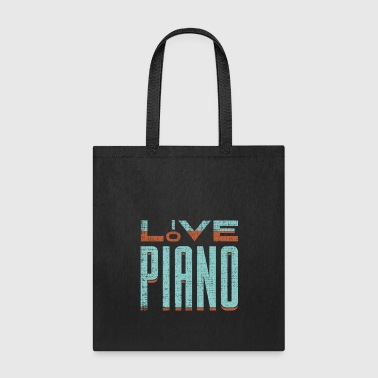 Love Piano fun gift idea for pianists and musician - Tote Bag