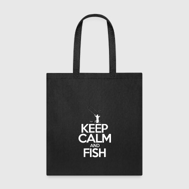 Keep Calm And Fish - Fishing - Total Basics - Tote Bag