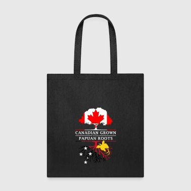 Canadian Grown with Papuan Roots Papua New Guinea Design - Tote Bag