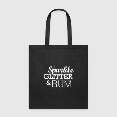 Sparkle Glitter And Rum Light Alcohol Party Gift - Tote Bag