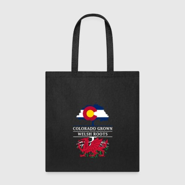 Colorado Grown with Welsh Roots Wales Design - Tote Bag