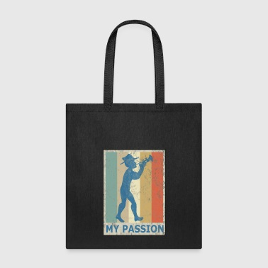 Retro Vintage Style Trumpet Player Musician Jazz - Tote Bag
