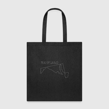State of Maryland State Shaped Map - Tote Bag