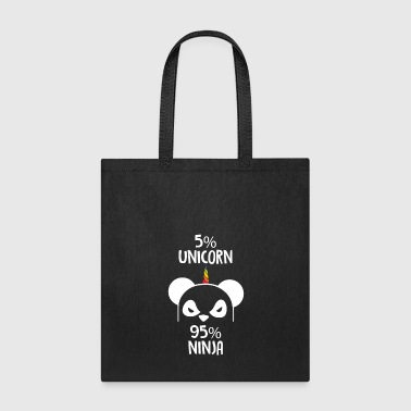 5% unicorn and 95% ninja - Tote Bag