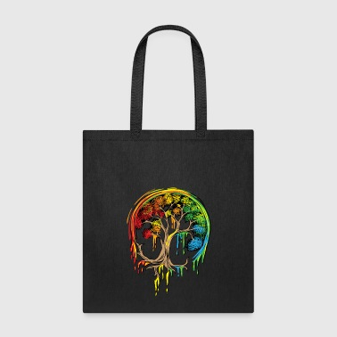 Colorful Tree Life is really good Tree Art Shirt - Tote Bag