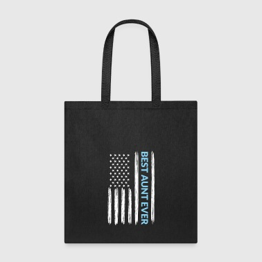 Best Aunt Ever Distressed American Flag - Tote Bag