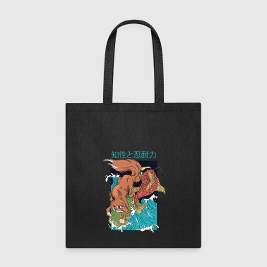 Vintage Japanese Fox and Fish - Tote Bag