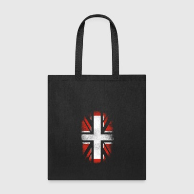 British Switzerland Flag - Swiss and UK Pride TShirt - Tote Bag
