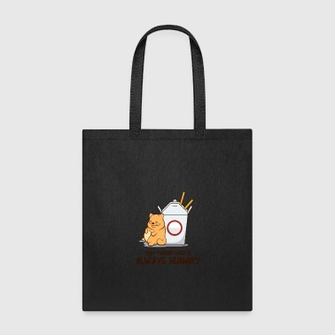 Cat Fat Hungry Friend Funny Noodle Chinese Gift - Tote Bag