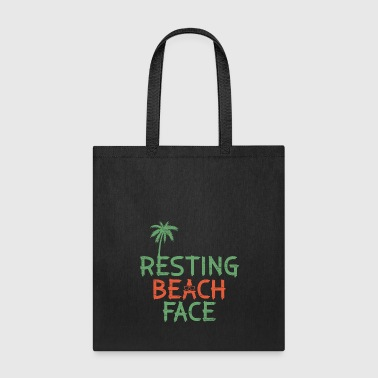 Resting Beach Face Holiday Funny Quote - Tote Bag