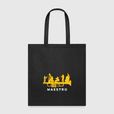 Maestro Orchestra on a Trumpet musician - Tote Bag