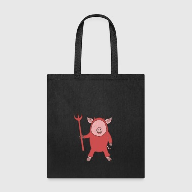 Satan Pig with Trident Halloweenoutfit - Tote Bag