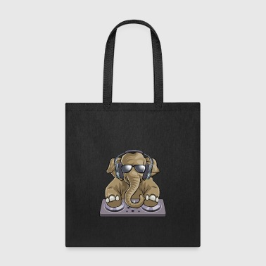 Elephant Dj Music - Tote Bag