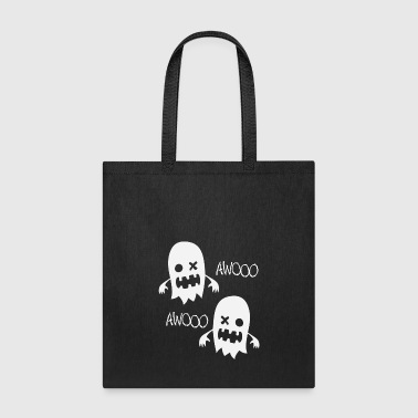 Ghosts spook in the haunted house Awooo - Tote Bag