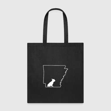 French Bulldog Frenchie Lover Arkansas Dog Shirt.png - Tote Bag