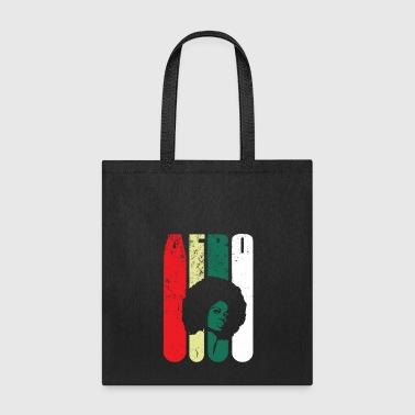BLACK WOMAN VINTAGE AFRO FUNNY GIFT MAGIC BEAUTY - Tote Bag