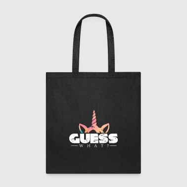 Guess What Unicorn christmas kids gift present - Tote Bag