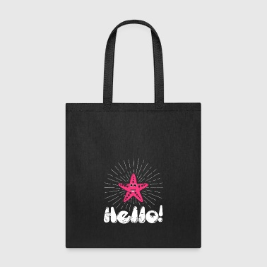 Hello Starfish first day cute illustration christm - Tote Bag