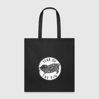 Year Of The Pig TShirt White Paper Cutting Humor - Tote Bag