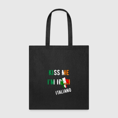 Kiss Me I'm Italian St Patrick's Day Irish Italy - Tote Bag