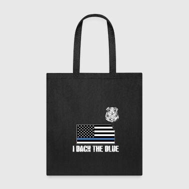 Kansas Police Appreciation Thin Blue Line I Back The Blue - Tote Bag