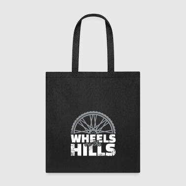 Wheels on the Hills Downhill christmas gift cyclis - Tote Bag