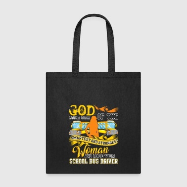 Woman Made School Bus Driver T Shirt - Tote Bag