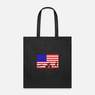 Sprinting triathlon sports event USA flag gift idea - Tote Bag