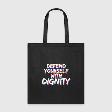 Homer Cool & Inspirational Dignity Tee Design Defend yourself with dignity - Tote Bag