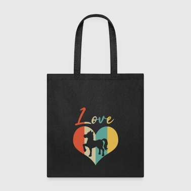 Foal Horse & Pony Retro Heart Love Gift & Present - Tote Bag