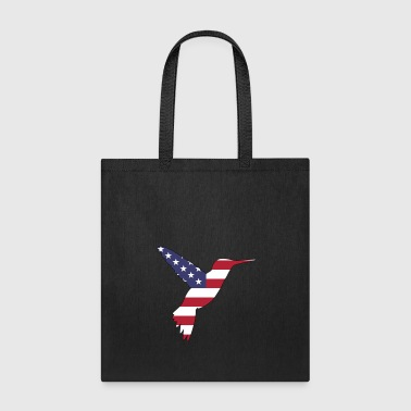 American Flag Humming Bird Happy 4th of July - Tote Bag