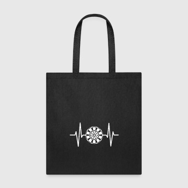 Dart Board Dart Heartbeat Graphic Design Gift - Tote Bag