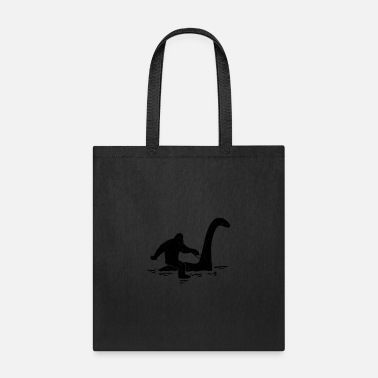 Folklore Bigfoot Riding Loch Ness Monster Funny Folklore - Tote Bag