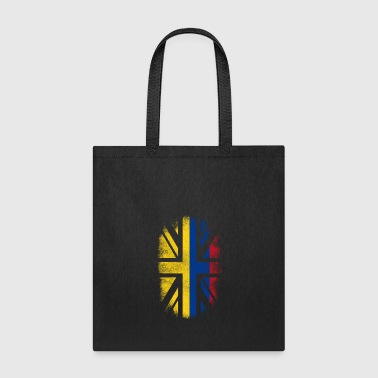British Flag British Colombian Flag - Colombia and UK Pride TShirt - Tote Bag