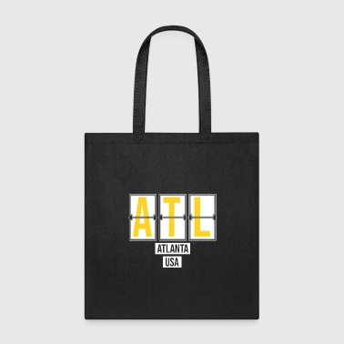 Flight ATL - Atlanta USA Airport Code Souvenir or Gift Shirt Apparel - Tote Bag