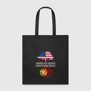 Portuguese American Grown with Portuguese Roots Portugal Design - Tote Bag