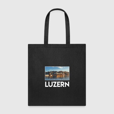 Church Luzern City Skyline Sights Silhouette Landmark - Tote Bag