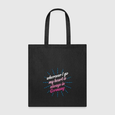 Summer wherever i go my heart is always in germany - Tote Bag