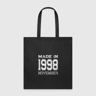 1998 Birthday Celebration Made In November 1998 Birth Year - Tote Bag