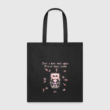 Joystick Pink Panda Gamer Girl Gamepad Bear Nerd Geek - Tote Bag