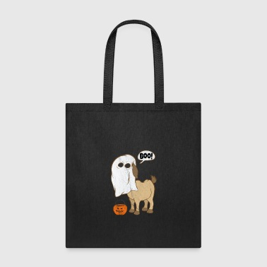 Joey Funny Halloween Goat Ghost Costume Cute Boo Goat Jack o lantern Bucket - Tote Bag