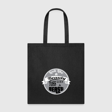 Awesome Funny And Awesome Toss Tshirt Design LOOK LIKE A BEAUTY - Tote Bag
