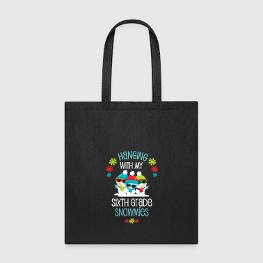 Chain Teacher Student Winter Christmas Sixth Grade Snowmies Holiday Gift - Tote Bag